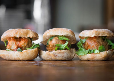 Veal Meatball Sliders